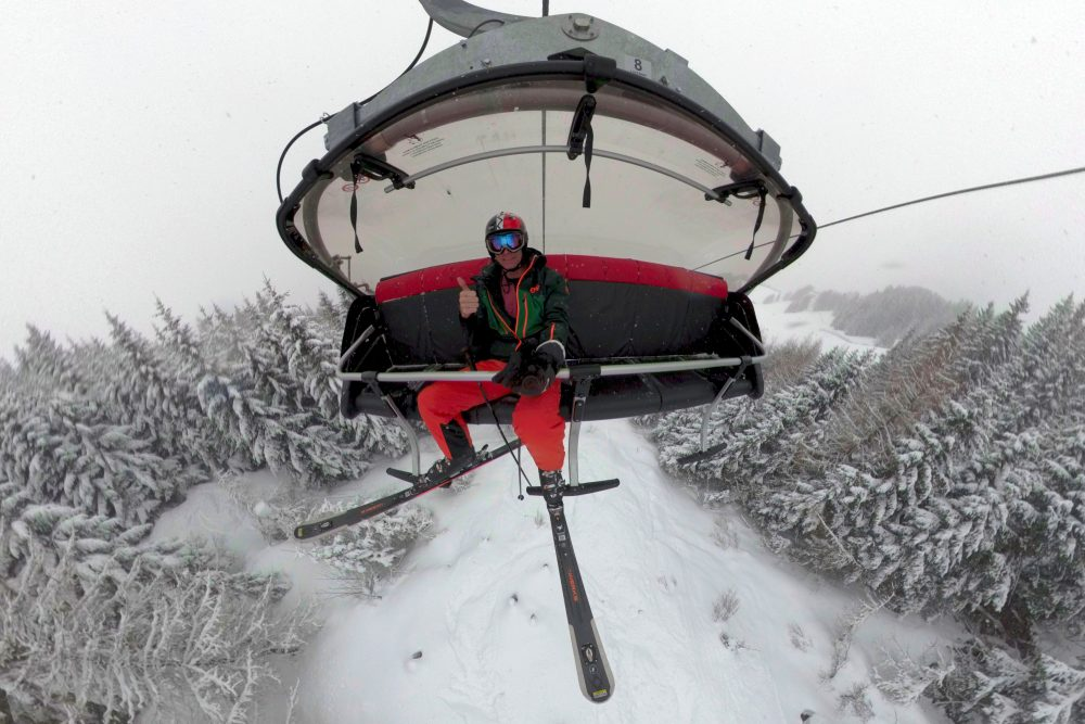 GoPro Fusion Skiing